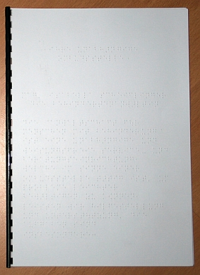 Foto Infofolder in Braille