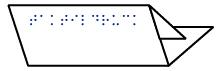 Grafik Folder mit Blindenschrift