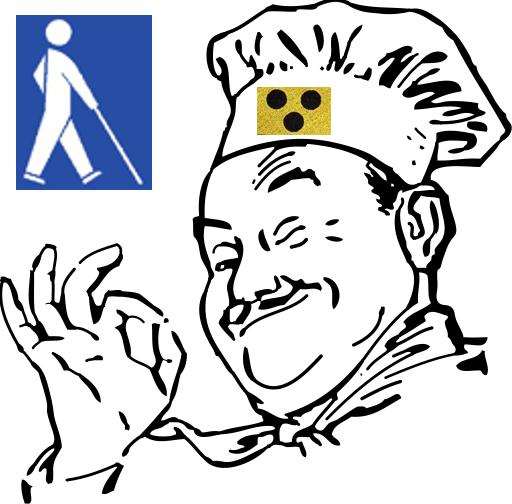 Blindenkarte in der Gastronomie