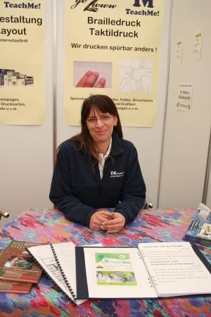 Marion Reisel, Expertin für Braille- u. Taktildruck