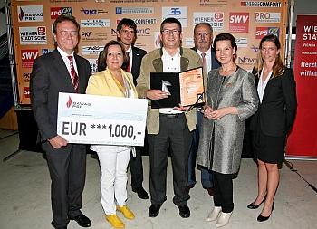 Foto Übergabe des Preises