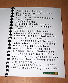 Folder Innenansicht (Brailledruck und Großschrift)