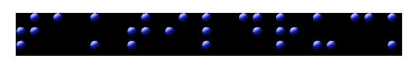 Brailleschrift - Beispiel