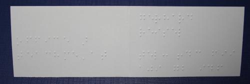 Visitenkarte 180 x 55 - Klappkarte Innenseite mit Braille